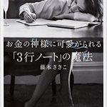 藤本さきこさんセミナーが書籍化!「お金の神様に可愛がられる3行ノートの魔法」